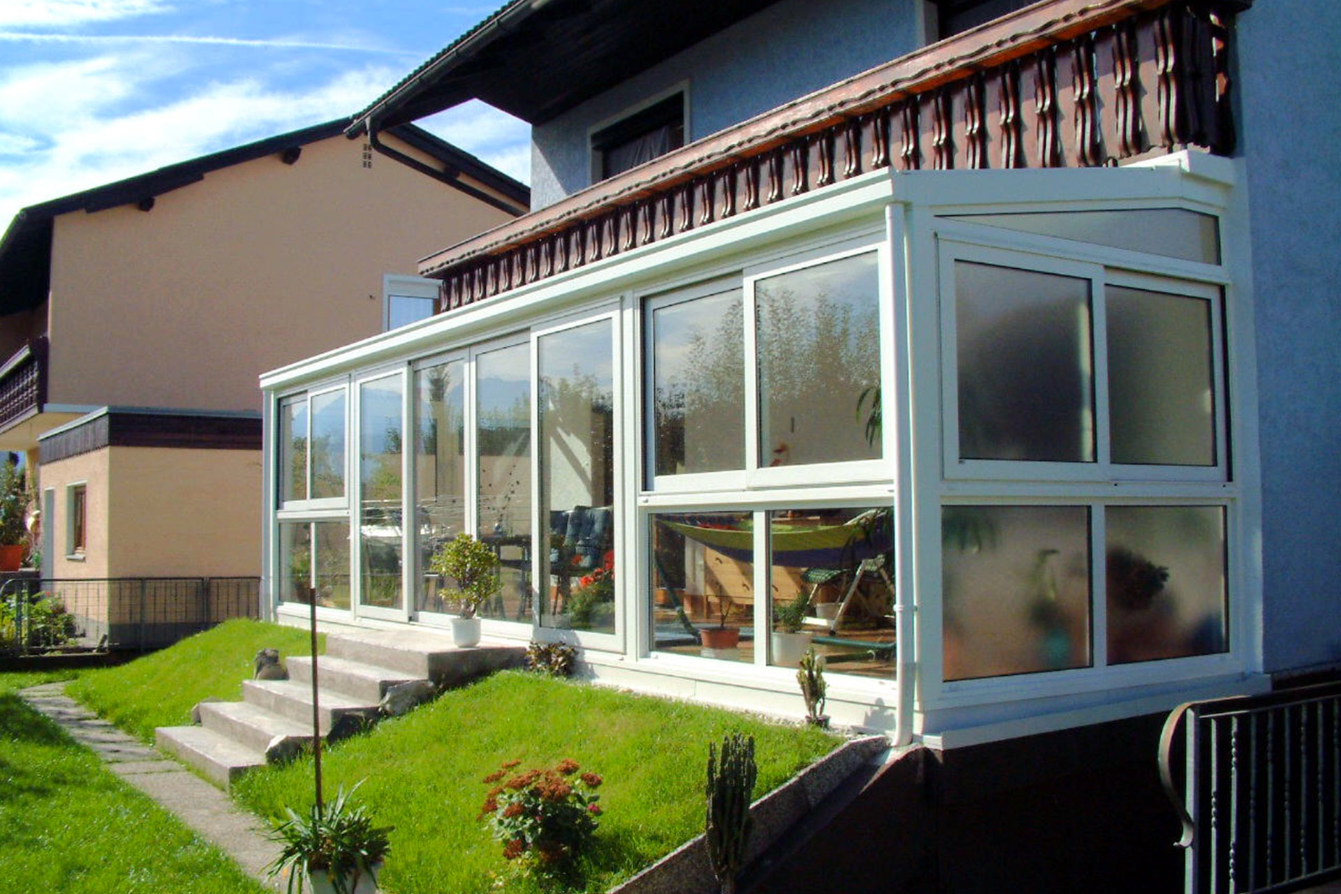 Giardino d'inverno winter garden serramenti alluminio taglio termico udine albo serramenti