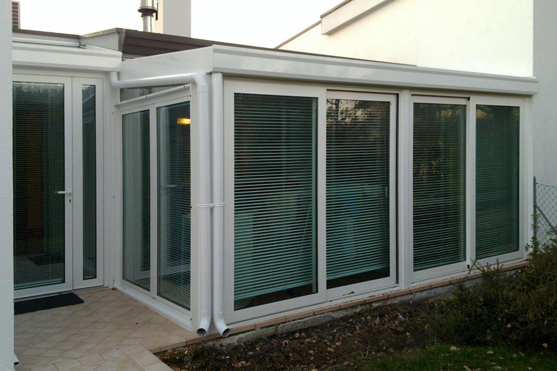 Giardino d'inverno winter garden serramenti alluminio taglio termico udine alboserramenti