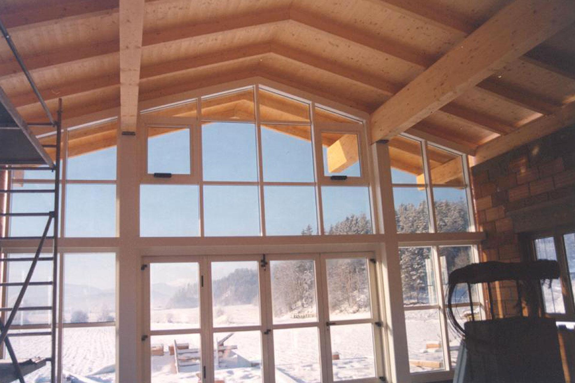 Giardino d'inverno winter garden serramenti alluminio taglio termico baita