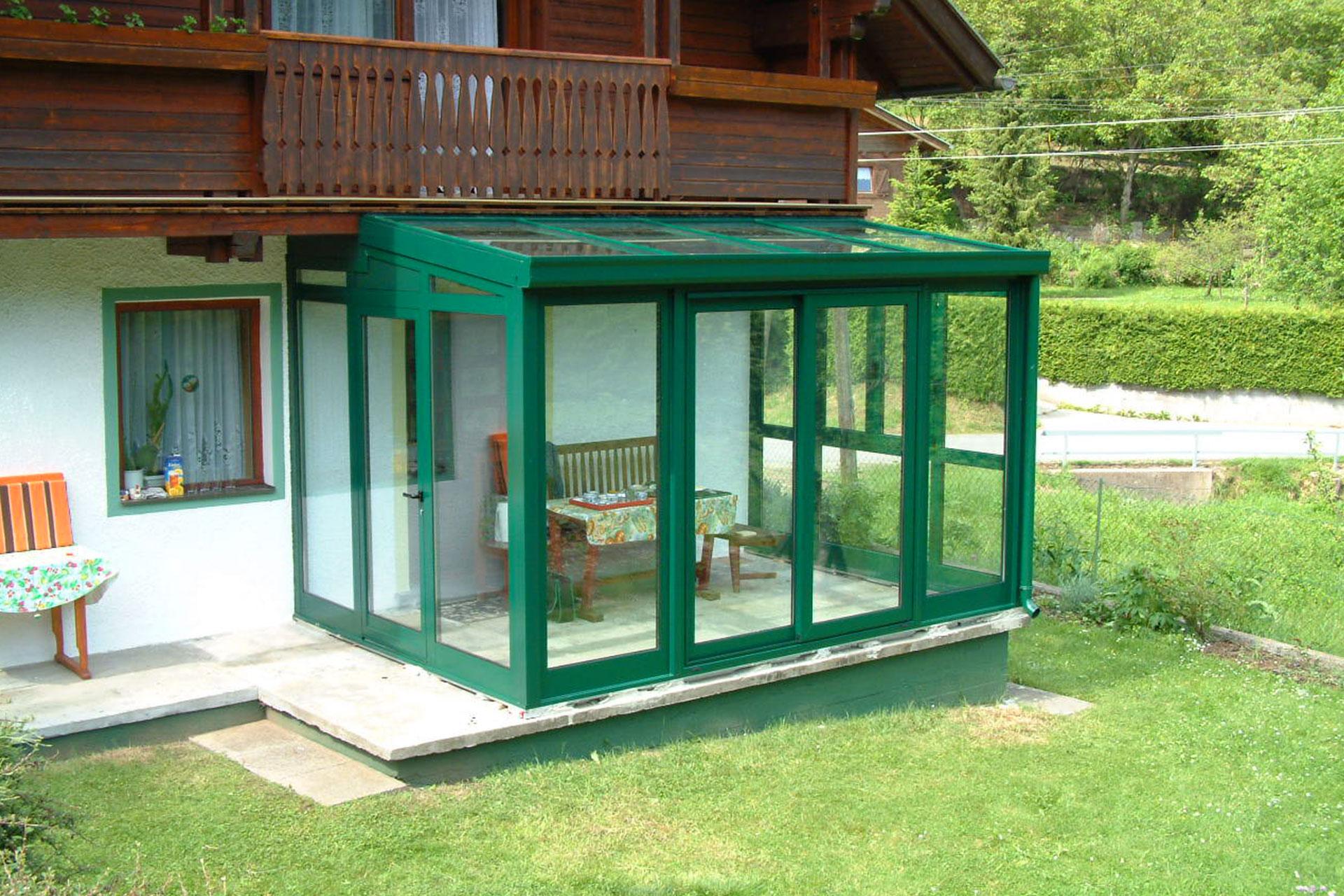 Giardino d'inverno winter garden serramenti alluminio taglio termico pordenone