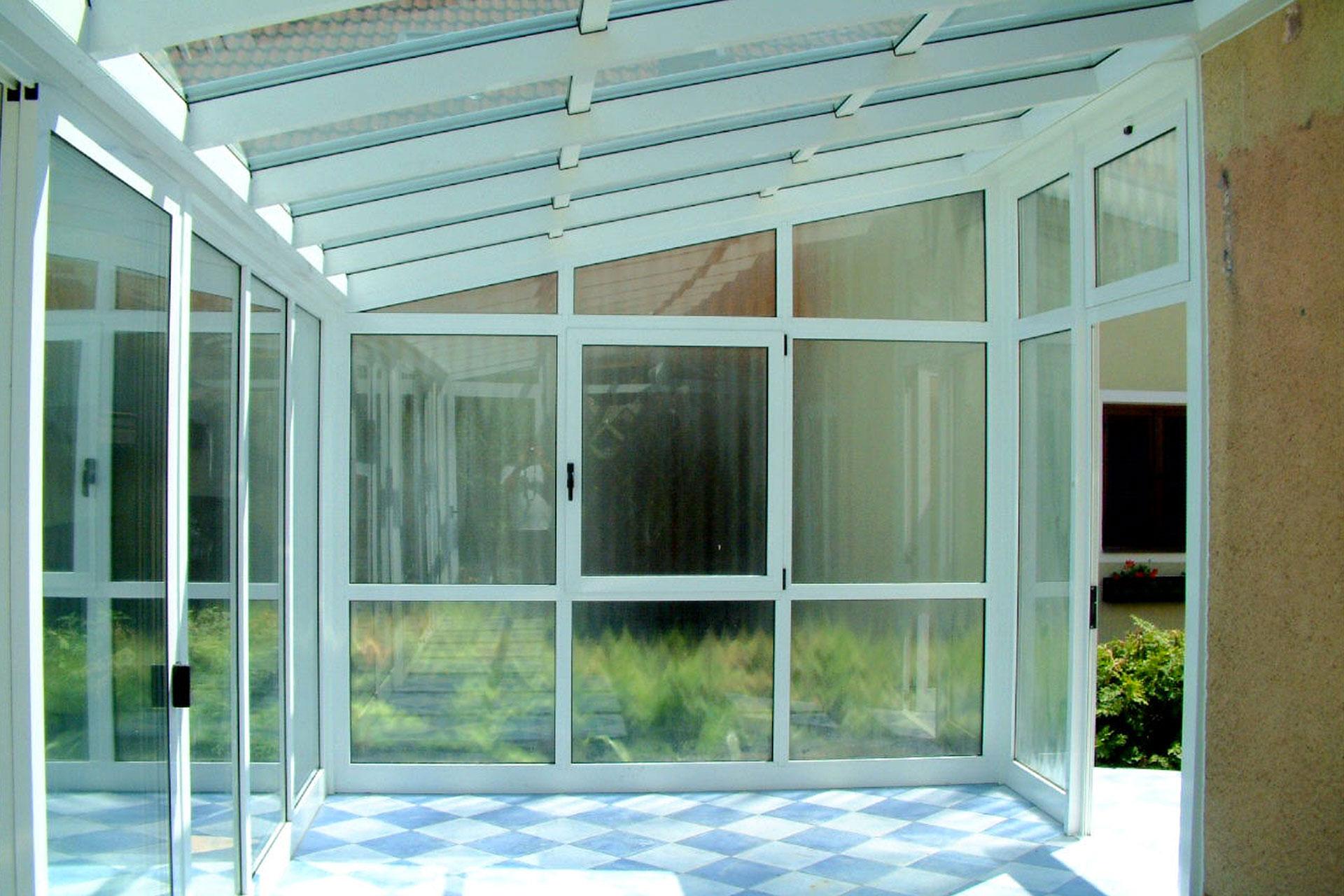 Giardino d'inverno winter garden serramenti alluminio udine