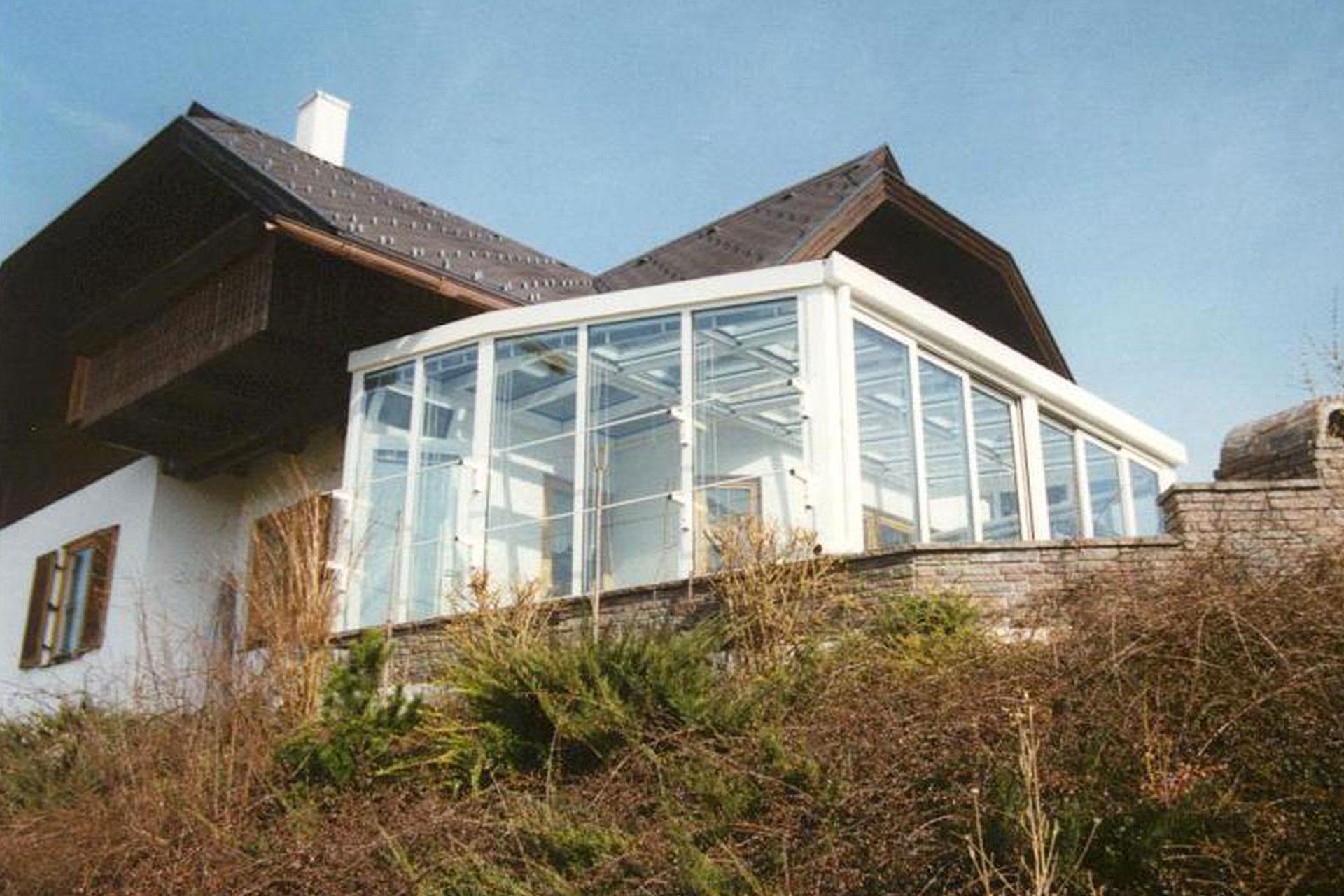 Giardino d'inverno winter garden serramenti alluminio taglio termico udine