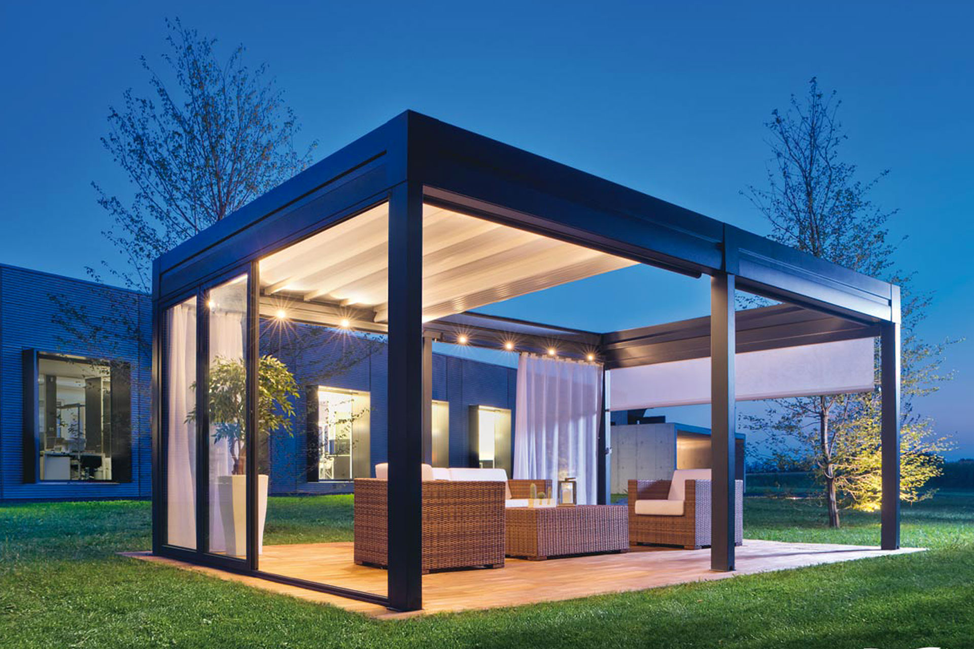 pergola bioclimatiche albo serramenti alluminio giardino friuli