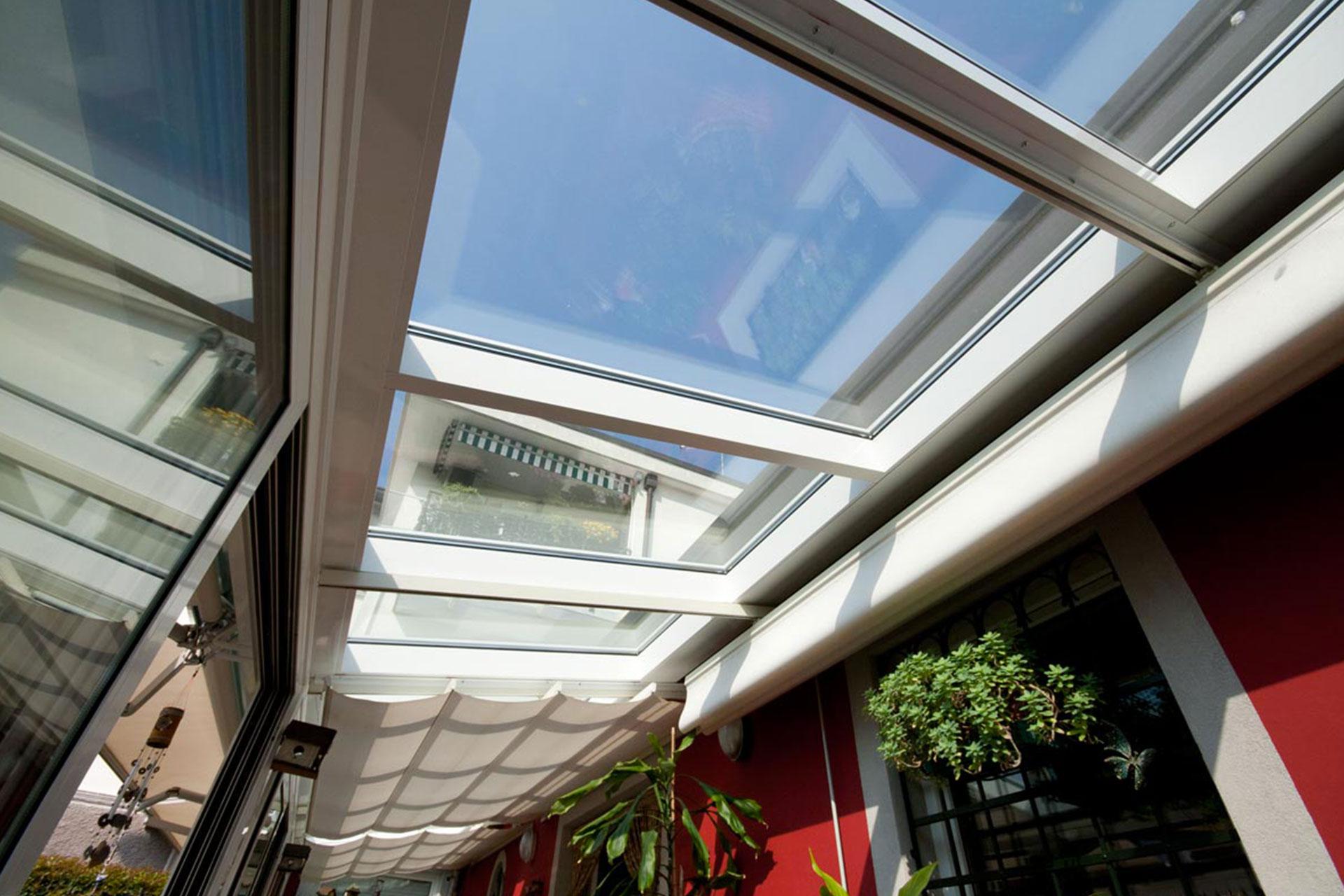 Veranda alluminio taglio termico bianco albo serramenti Udine