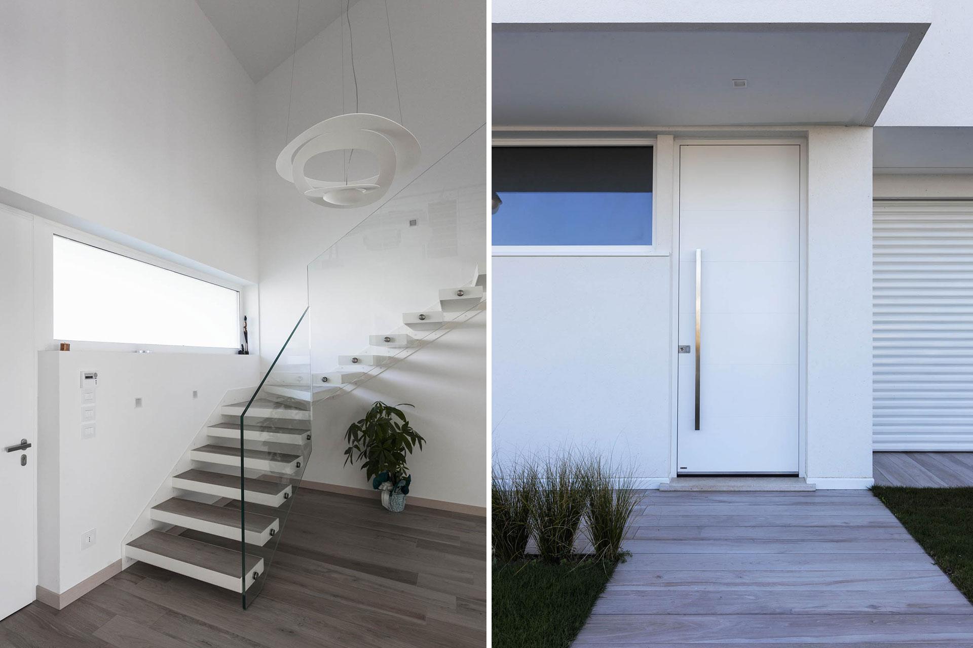 installazione porte blindate bianche