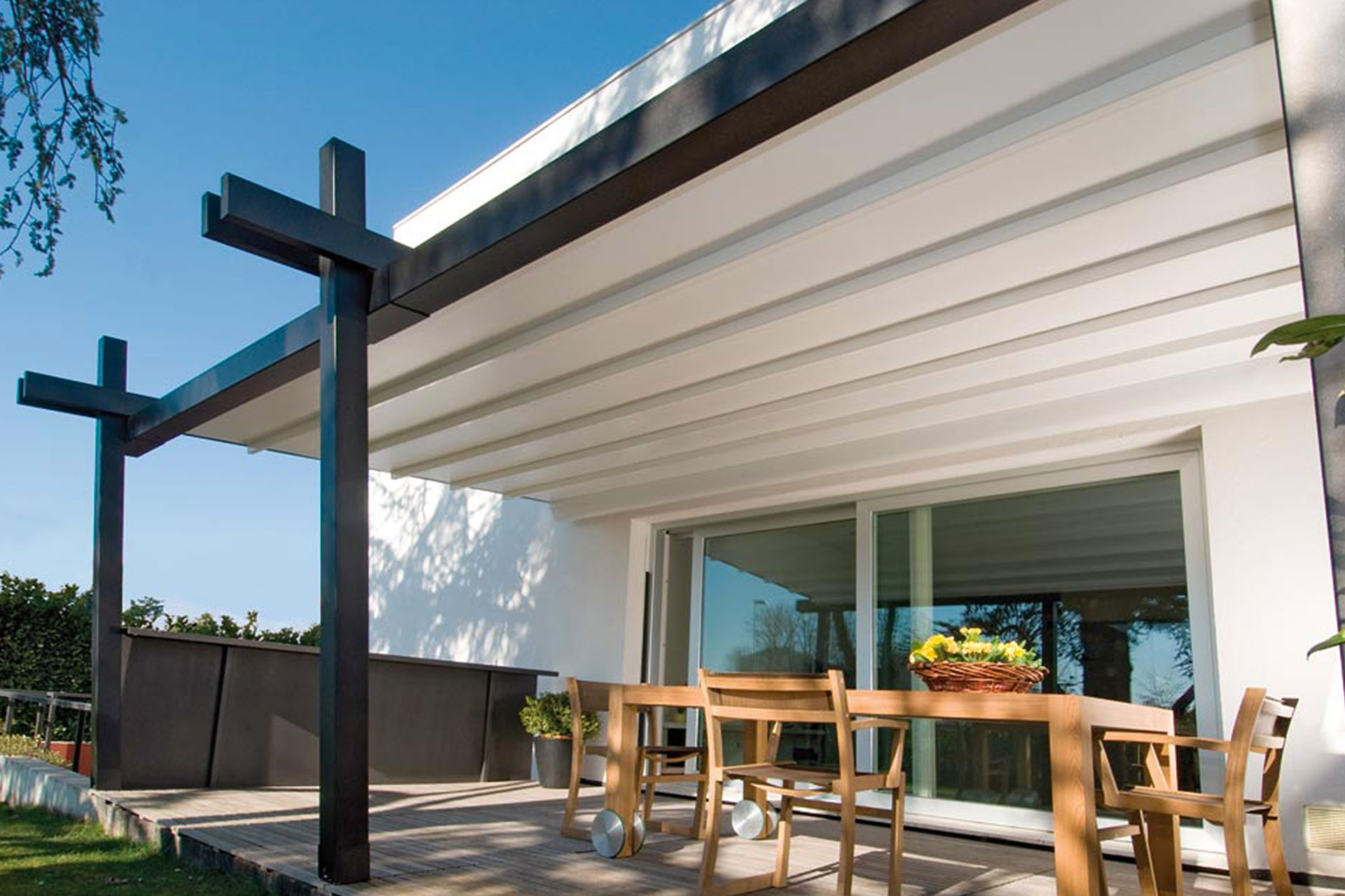 pergola albo serramenti alluminio giardino grado 2