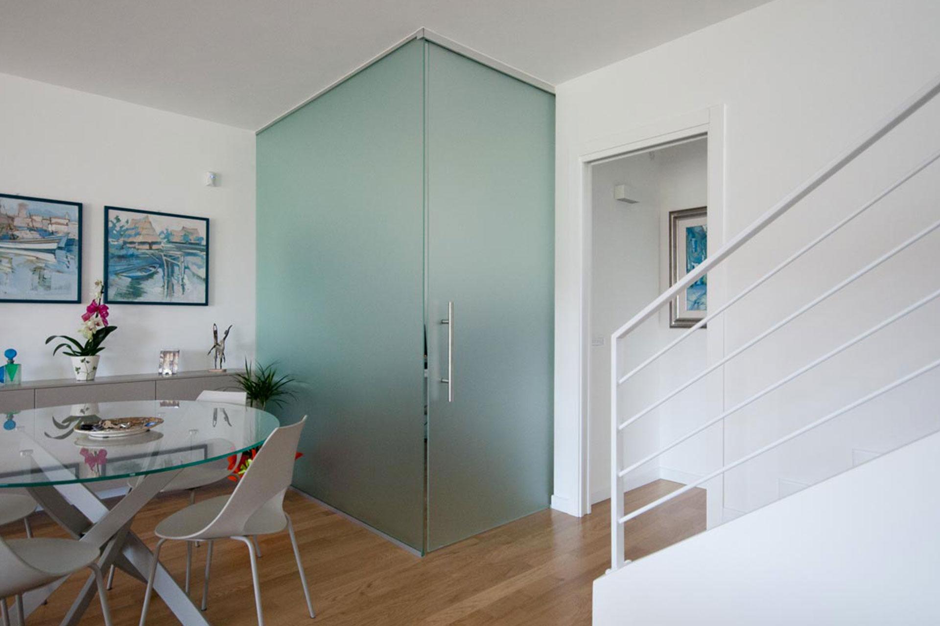 pareti ufficio vetro acciaio albo serramenti